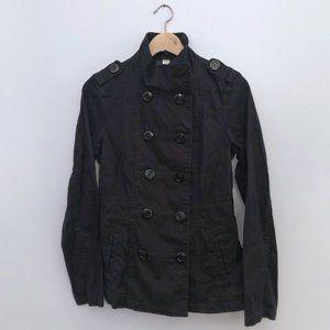 H&M Black Twill Jacket | Size 8